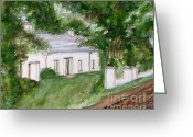 Houses Posters Greeting Cards - Irish Cottage Greeting Card by Patrick J Murphy