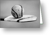 Youths Greeting Cards - Irish Hurling Ball And Stick Greeting Card by Joe Fox