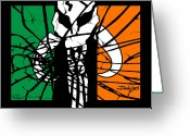 Ireland Greeting Cards - Irish Mandalorian Flag Greeting Card by Dale Loos Jr