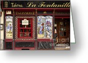 Pubs Greeting Cards - Irish Pub in Spain Greeting Card by John Greim