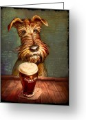 Terrier Greeting Cards - Irish Stout Greeting Card by Sean ODaniels