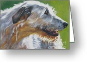 L.a.shepard Greeting Cards - Irish Wolfhound Beauty Greeting Card by L A Shepard