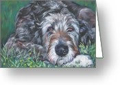 Irish Greeting Cards - Irish wolfhound Greeting Card by Lee Ann Shepard