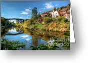 Church Greeting Cards - Iron Bridge 1779 Greeting Card by Adrian Evans
