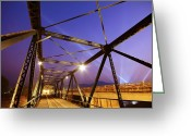 Architect Photo Greeting Cards - Iron Bridge  Greeting Card by Setsiri Silapasuwanchai