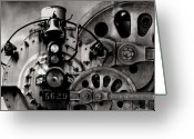Steam Engine Greeting Cards - Iron Circles No. 1 Greeting Card by Joe Bonita
