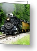 Locomotive Greeting Cards - Iron Horse Greeting Card by Scott Hovind