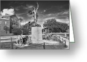 "\""old Glory\\\"" Greeting Cards - Iron Mke Statue - Parris Island Greeting Card by Scott Hansen"