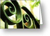 Pdx Art Greeting Cards - Iron Swirls Greeting Card by Cathie Tyler
