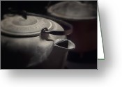 Kettle Greeting Cards - Iron Greeting Card by Tom Mc Nemar