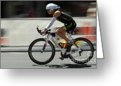 Bicycle Art Greeting Cards - Ironman 2012 Flying By Greeting Card by Bob Christopher