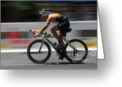 Bicycle Art Greeting Cards - Ironman Need For Speed Greeting Card by Bob Christopher