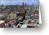 Big Cities Greeting Cards - Irony of Cuba Greeting Card by Karen Wiles