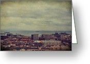 Rooftops Greeting Cards - Is Anybody Out There Greeting Card by Laurie Search