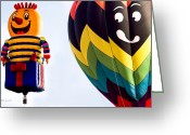 Balloon Photo Greeting Cards - Is That A Rocket In Your Pocket Greeting Card by Bob Orsillo
