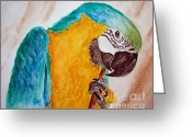 Talking Birds Greeting Cards - Isabelle Greeting Card by Carol Grimes