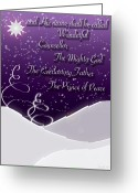 Isaiah Greeting Cards - Isaiah Chapter 9 Verse 6 Christmas Card Greeting Card by Lisa Knechtel