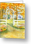 Aster  Painting Greeting Cards - Isaiah Hall Greeting Card by Robert Haeussler
