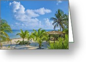 Ocean Front Greeting Cards - Island Beauty Greeting Card by Stephen Anderson