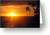 Sunset Posters Greeting Cards - Island Breeze Greeting Card by Athala Carole Bruckner