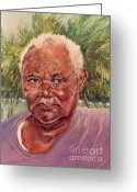 Caribbean Art Pastels Greeting Cards - Island Fisherman Greeting Card by John Clark