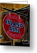 Merchant Greeting Cards - Island Girl Greeting Card by Cheryl Young