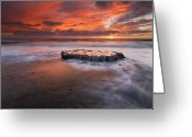 Ebb Greeting Cards - Island in the Storm Greeting Card by Mike  Dawson