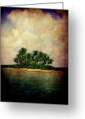 Tropical Island Greeting Cards - Island of Dreams Greeting Card by Susanne Van Hulst