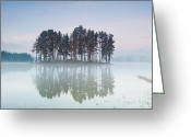 Twilight Greeting Cards - Island of the day before Greeting Card by Evgeni Dinev