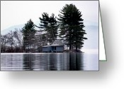 Scenic Byways Greeting Cards - Island Retreat Greeting Card by Skip Willits