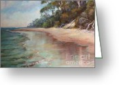 Tea Pastels Greeting Cards - Island Sands Greeting Card by Pamela Pretty