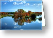 The Glade Greeting Cards - Islands in the Sun Greeting Card by Debra and Dave Vanderlaan