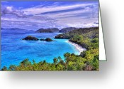 Reefs Greeting Cards - Isle of Sands Greeting Card by Scott Mahon