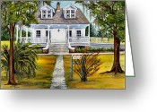 Louisiana Greeting Cards - Islenos Museum Greeting Card by Elaine Hodges