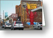 Sacramento River Greeting Cards - Isleton Joes Restaurant and Saloon in Isleton California Greeting Card by Wingsdomain Art and Photography
