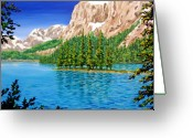 Canada Painting Greeting Cards - Isolation Greeting Card by Patrick Parker