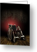 Disability Greeting Cards - Isolation Through Disability, Artwork Greeting Card by Victor Habbick Visions