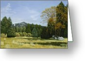 Photo-realism Greeting Cards - Isomata Meadow Greeting Card by Jiji Lee