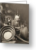 Turban Greeting Cards - Israel: Metal Workers, 1938 Greeting Card by Granger