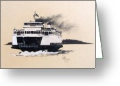 Washington Pastels Greeting Cards - Issaquah Greeting Card by Gale Cochran-Smith