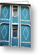 Blue House Greeting Cards - Istanbul Blue Greeting Card by John Rizzuto