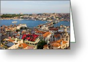 Beyoglu Greeting Cards - Istanbul Cityscape Greeting Card by Artur Bogacki