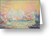 Byzantine Greeting Cards - Istanbul Greeting Card by Paul Signac