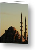 Minaret Greeting Cards - Istanbul Yeni Cami (new Mosque) Greeting Card by Andrea Cavallini