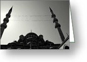 Sultan Greeting Cards - Istanbuls Yeni Camii or New Mosque Greeting Card by Oxymoron