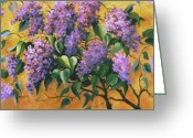 Flovers Greeting Cards - It is Lilac Time 2 Greeting Card by Marta Styk