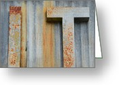 High Resolution Greeting Cards - IT Rusty Sign Greeting Card by Nikki Marie Smith