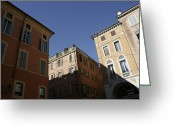 Exterior Buildings Greeting Cards - Italian Architecture Greeting Card by Gina Martin