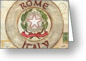 Florence Greeting Cards - Italian Coat of Arms Greeting Card by Debbie DeWitt