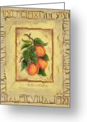 Plaque Greeting Cards - Italian Fruit Apricots Greeting Card by Marilyn Dunlap